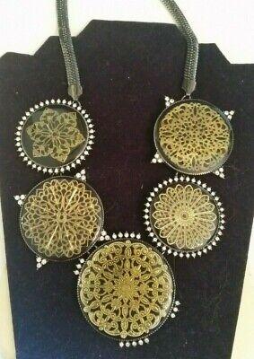 Vintage Necklace Steam Punk Retro Rhinestone Costume Jewelry