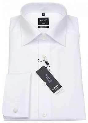 Olymp Herren Hemd Modern Fit Umschlagmanschette weiß 1810 65 00