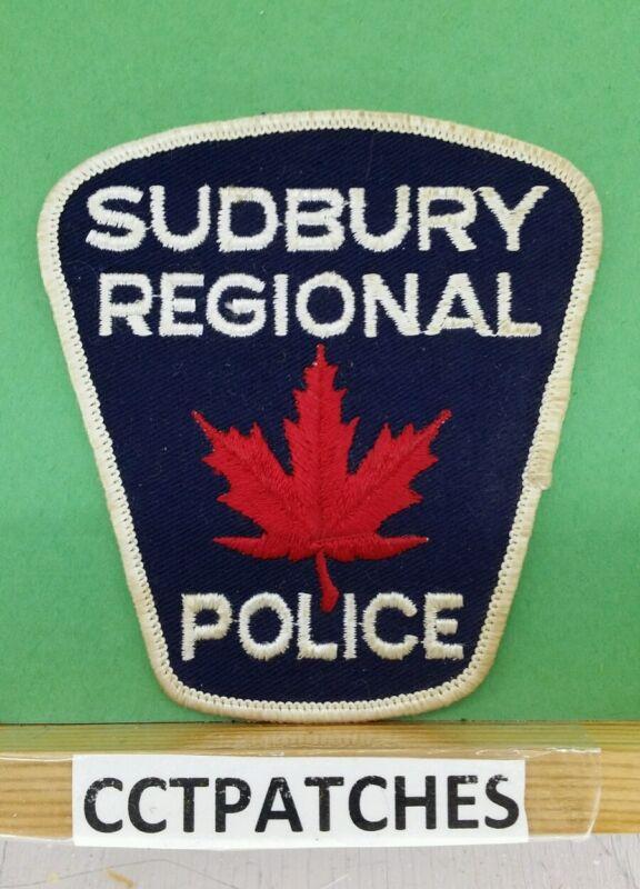 SUDBURY REGIONAL, CANADA POLICE SHOULDER PATCH