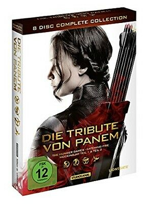 Die Tribute von Panem Box -Komplettbox Complete Collection NEU 8 DVDs Alle