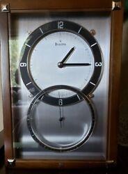 Bulova Wall Clock Model C4333 Remote Second Hand Walnut Case Excellent