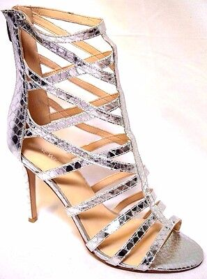 NINE WEST shoes sz 9.5 / 41 Sari Silver Faux Snake stiletto heels BNIB! rrp$190