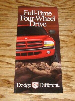 Original 1999 ? Dodge Dakota & Durango Four-Wheel Drive Sales (Dodge Four Wheel Drive)