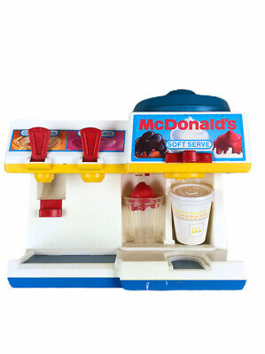 Vintage 1988 Fisher Price Fun Food McDonald's Soft Serve & Soda Fountain