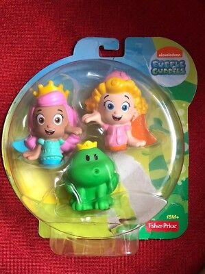 Fisher Price - Bubble Guppies - Molly, Deema und Frosch Prinz Unbespielt