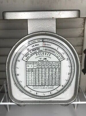 1963 Pelouze Postal Scale Model Y-10 10 Lb Analog Scale