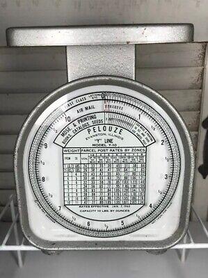 1963 Pelouze Postal Scale Model Y-10 10 Lb Analog Scale
