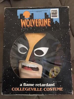 Wolverine Marvel Costume 1992 COLLEGEVILLE X-Men Tiny Tot 3-4 Years W/ Box