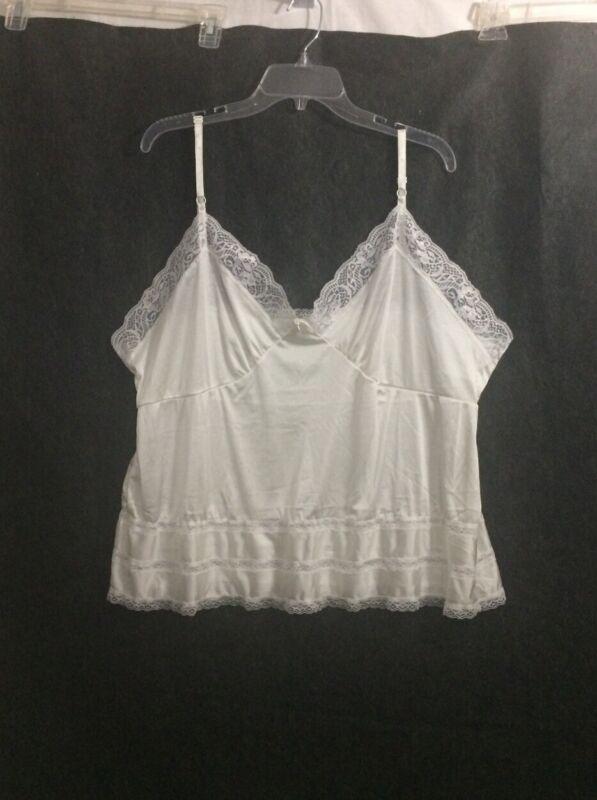 Adonna Camisole Size 46 White Adjustable Straps Vintage