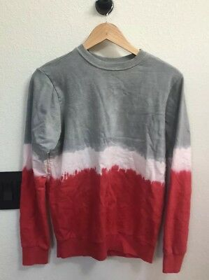 (A12) Mowgli Surf Tie Dye Long Sleeve Top XS Gray Red