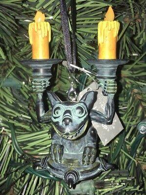 Disney Haunted Mansion Gargoyle Candlestick Light Up Christmas ORNAMENT