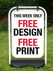 PAVEMENT SIGN SHOP SIGN SWING SIGN A BOARD SANDWICH BOARD INCL. FREE PRINTING
