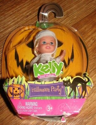 KELLY SISTER OF BARBIE HALLOWEEN PARTY KELLY DOLL AS MUMMY NEW IN BOX DATED - Date Of Halloween Party