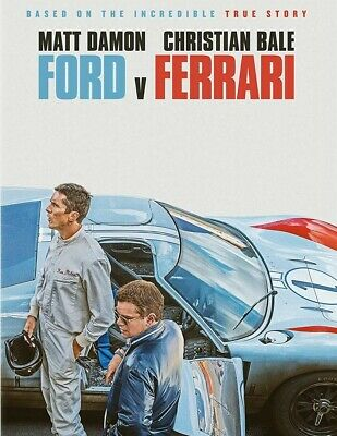 Ford. Vs, Ferrari DVD - A True Story - Matt Damon Christian Bale -FREE SHIP