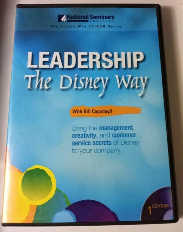 National Seminars Training The Disney Way LEADERSHIP With BILL CAPODAGLI Cd Rom