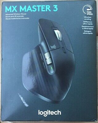 Logitech MX Master 3 Wireless Laser Mouse Black WINDOWS/MAC/LINUX FREE SHIPPING!