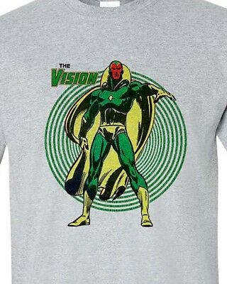 The Vision tee shirt retro bronze age marvel comics avengers graphic t shirt - The Vision Avengers