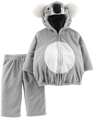 2pc NEW CARTER'S KOALA BEAR TEDDY Costume Set HOODED TOP PANTS girl boy nwt 12 m