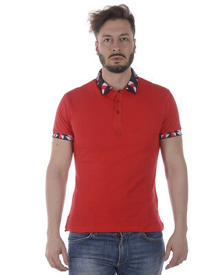 Versace Jeans Polo Shirt SLIM Cotton Man Red B3GRA7PB 500