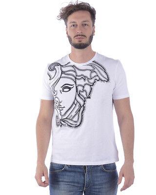 T shirt Versace Collection Sweatshirt Cotone Uomo Bianco V800683SVJ00438 V7001