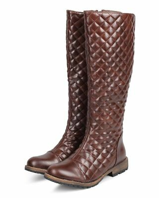 Buckle Knee High Boot (New Women Nature Breeze Kimo-01 Quilted Cap Toe Buckle Knee High Riding Boot )
