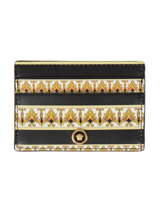 Versace Wallet Leather ITALY Man Black DPN2467 DVT5D DNMOH Sz. U PUT OFFER