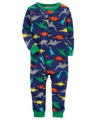 1 Cotton Baby Sleeper - CARTER'S BABY BOY 1PC DINOSAURS FOOTLESS L/S COTTON SLEEPER PAJAMAS 12M