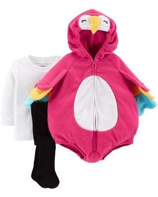 Neu Carter's Halloween Mädchen Rosa Papagei Plüsch Kostüm Nwt 3-6m Monate 6-9m (Halloween-kostüme 3 6 Monate)