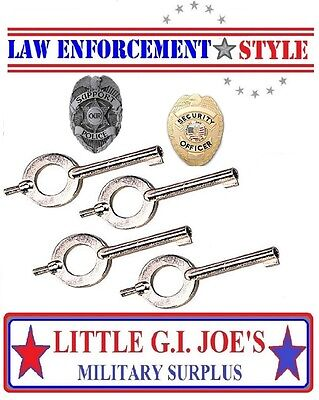 NEW STANDARD Universal Handcuff Key Police Sheriff 10094 YOU GET ( 4) CUFF KEYS