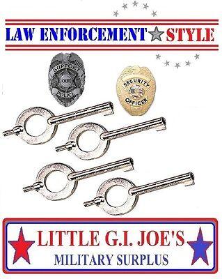 4 Standard Universal Handcuff Key Police 10094 Cuff Keys Read Description