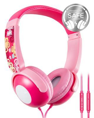 Mumba Kids Over Ear Wired Headphones Headband Girl Earphones Volume Limited Pink for sale  Shipping to India