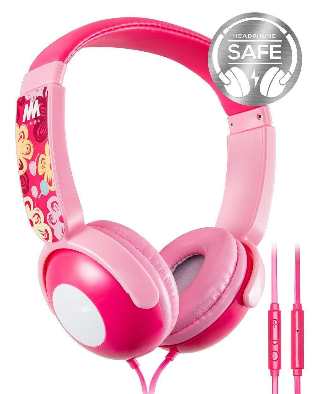Mumba Kids Over Ear Wired Headphones Headband Girl Earphones