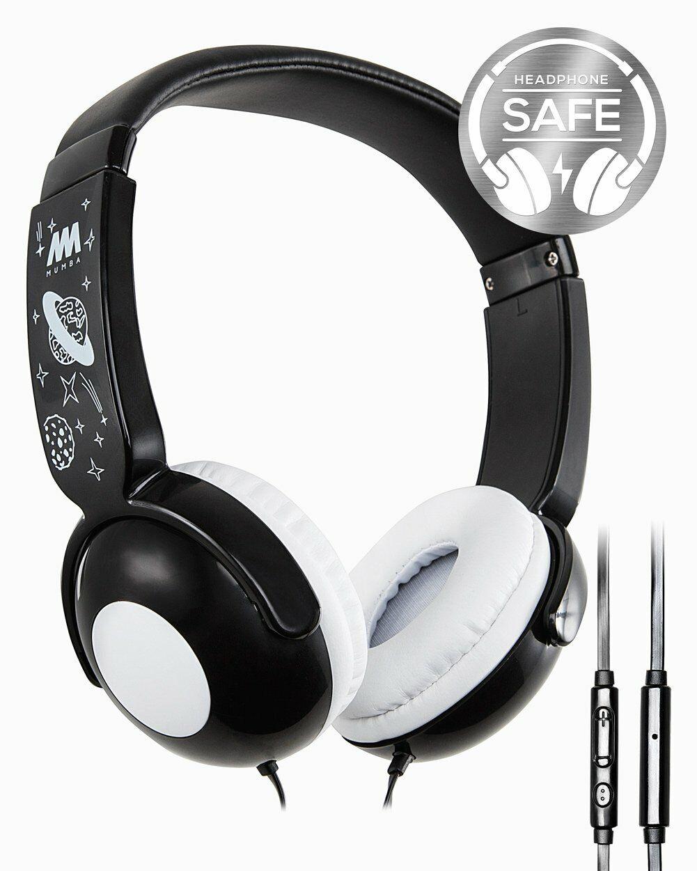 Kids Wired Headphones, Mumba Volume Limited Over Ear Headpho