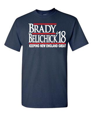 Tom Brady Bill Belichick New England Patriots   Brady Belichick 2018  Shirt