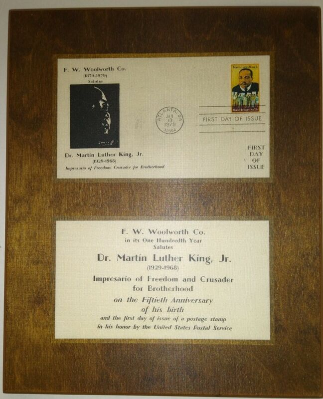FW Woolworth Plaque Commemorating 100 years & Martin Luther King
