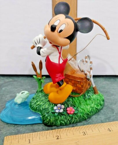 Disney Mickey Mouse Hooked On Fishing Collection Fishing For Trouble Figurine