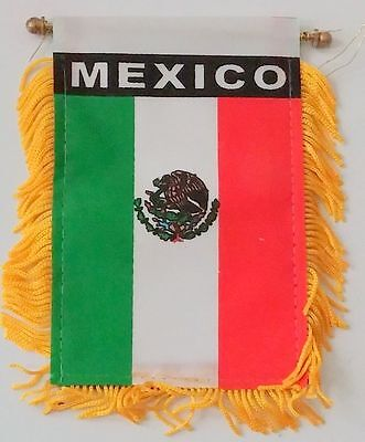 Mexico Mini Banner Mexican Flag Car Mirror Hanging Decoration - Mexico Decoration
