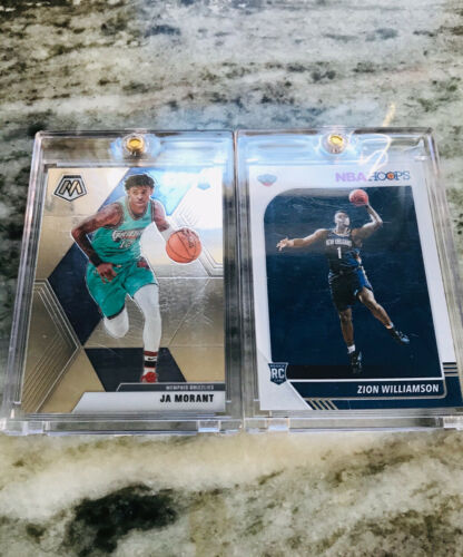 JA MORANT AND ZION WILLIAMSON ROOKIE CARD CHASE!! (5 CARDS)   *Read Description*