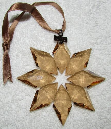 2013 Swarovski SCS GOLD Crystal Ornament, Large Annual Edition, MINT