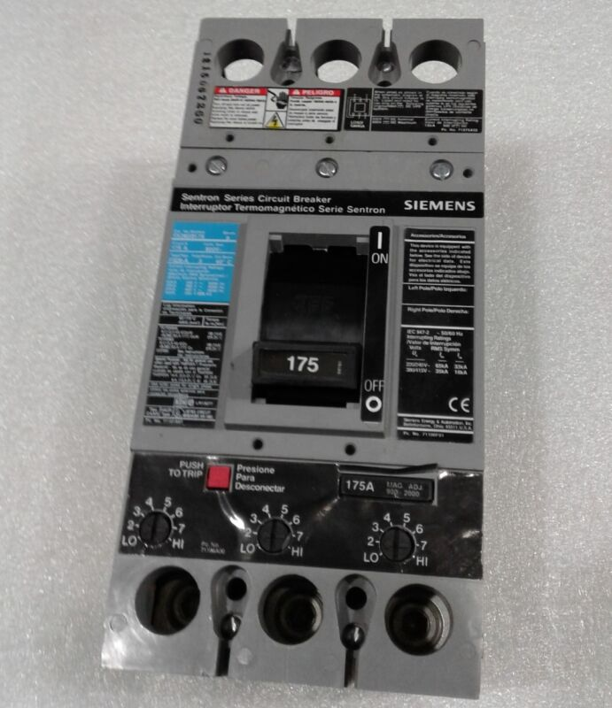 ITE SIEMENS FXD6-A FXD63B175 3 pole 175 amp 600v Circuit Breaker FXD6 Black//Blue