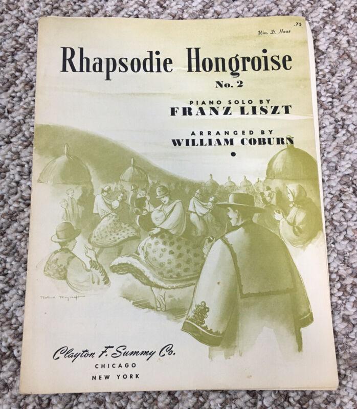 Rhapsodie Hongroise Franz Liszt Piano Sheet Music Volume 2 Vintage