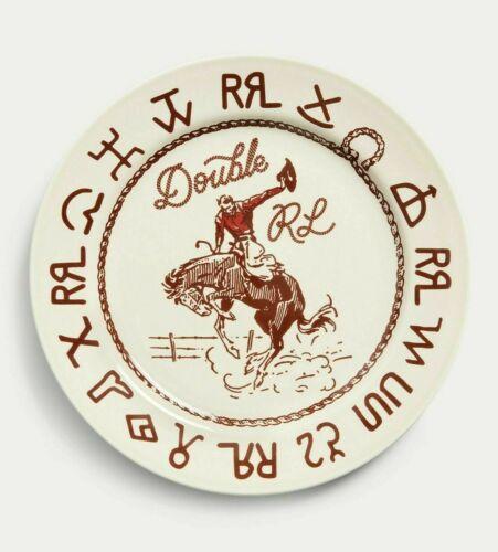 RRL Ralph Lauren Rodeo Souvenir Plate 9 Western Cowboy Branding NWB