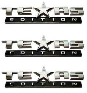 (Set of THREE) TEXAS EDITION EMBLEM CHEVY SILVERADO SIERRA TRUCK UNIVERSAL DECAL