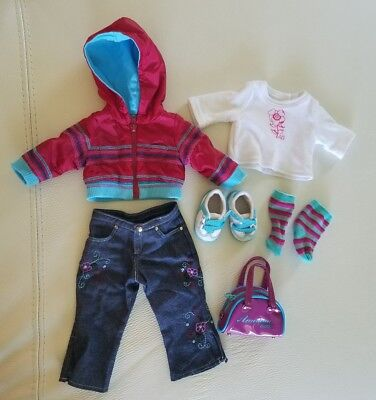 Retried 2004 Ready For Fun American Girl Doll JLY Meet Outfit with bag