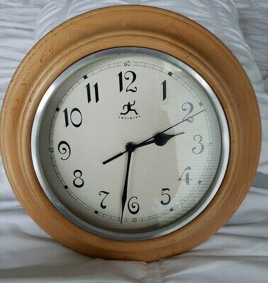 "Infinity Instruments 12"" Beautiful Light Wood Hanging Wall Clock"