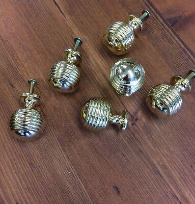 6x Beehive Drawer knobs,Cupboard Door,brass Beehive drawer handles,chest drawers