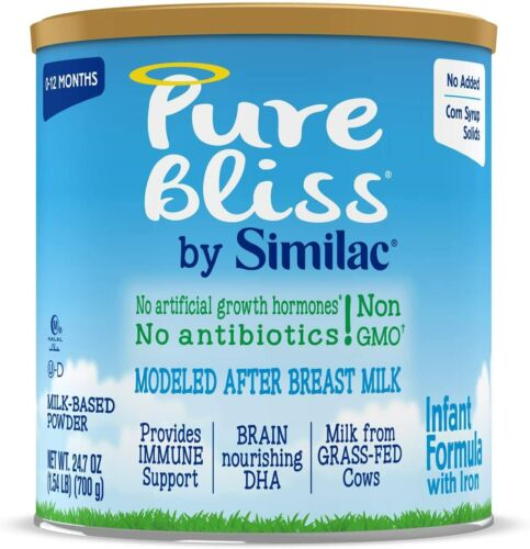 Pure Bliss by Similac Infant Formula Non-GMO  24.7 oz ( 6 Pack ) EXP 11/2021