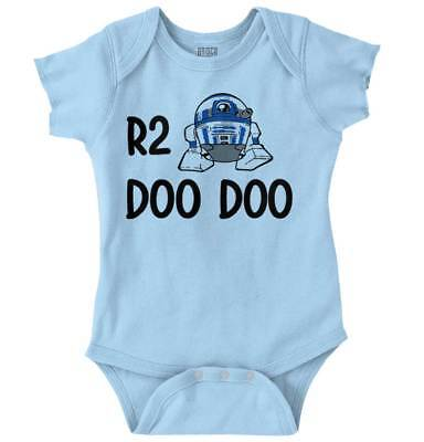 R2 Doo Doo Funny Gift Baby Toddler Star Wars R2D2 Cool Cute Romper - Star Wars Baby Gifts
