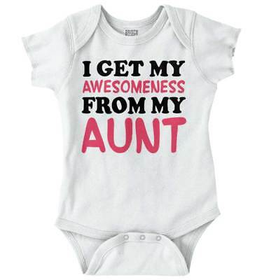(I Get My Awesome Aunt Shirt | Cute Baby Clothes Family Gift Romper Bodysuit)