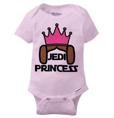 Jedi Princess Leia Cool Gift Cute Star Wars Edgy Sarcastic Gerber Onesies